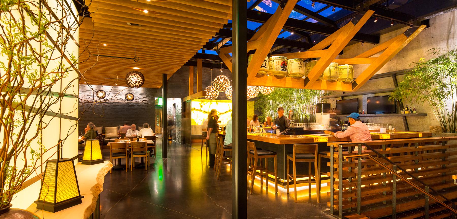 Izakaya Den dining and bar area