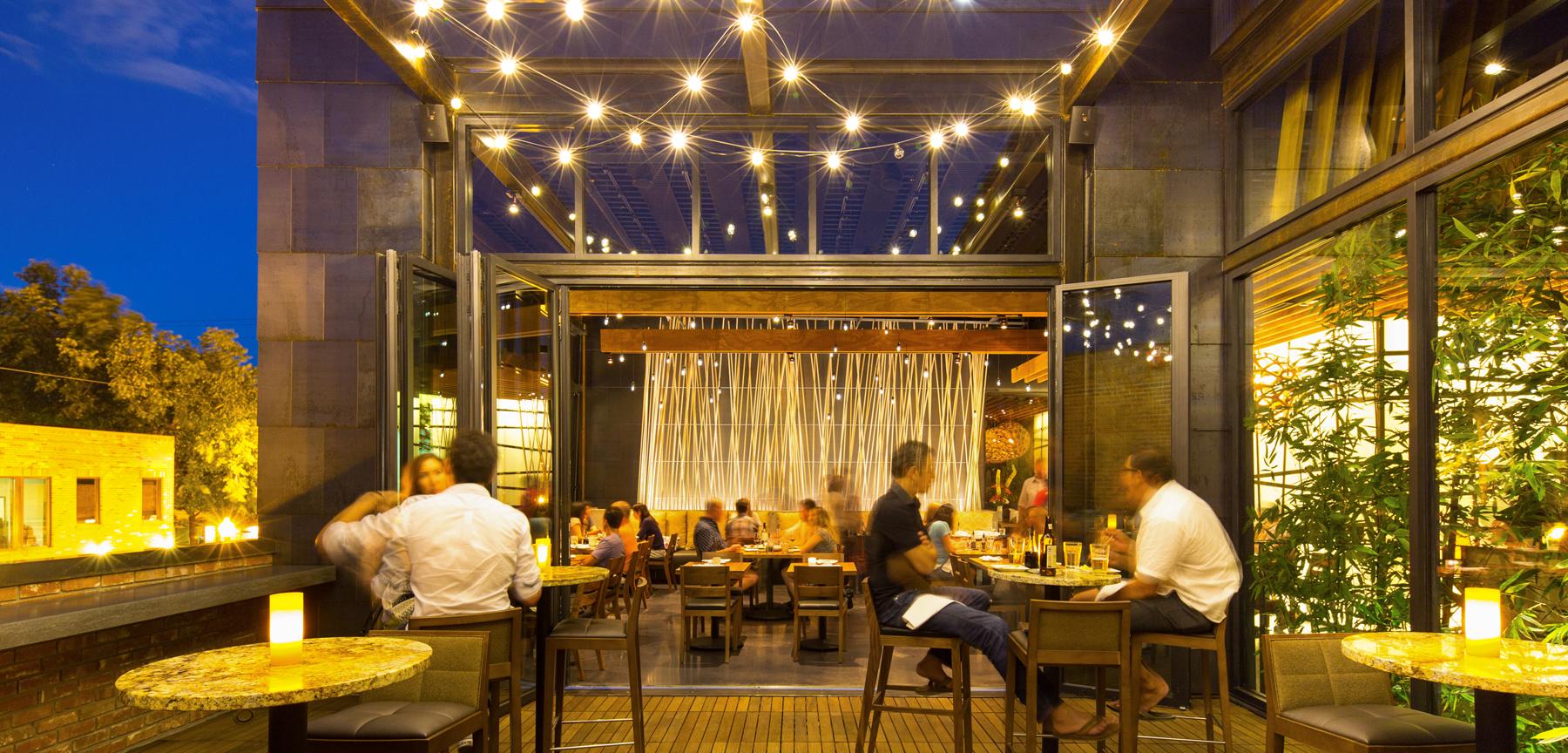 Izakaya Den rooftop patio