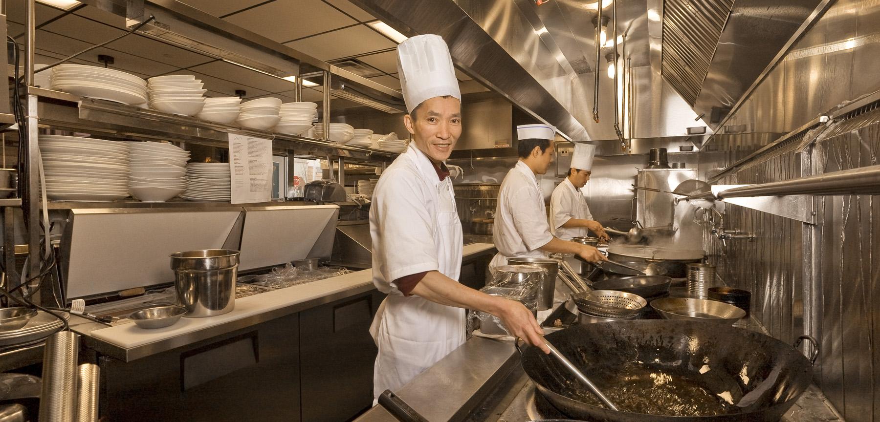 Jing restaurant kitchen