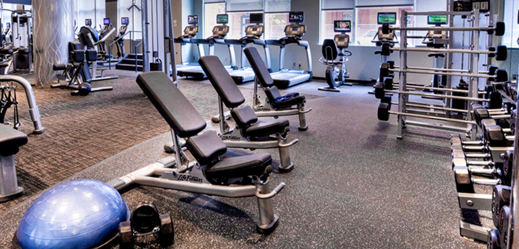 1401 Wynkoop Fitness Center fitness room
