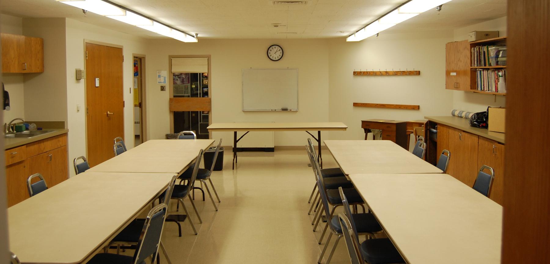 Aurora Senior Center activity room