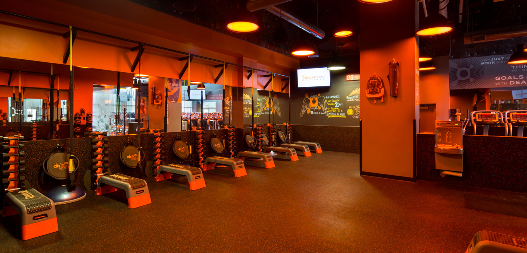 Orangetheory fitness TRX area
