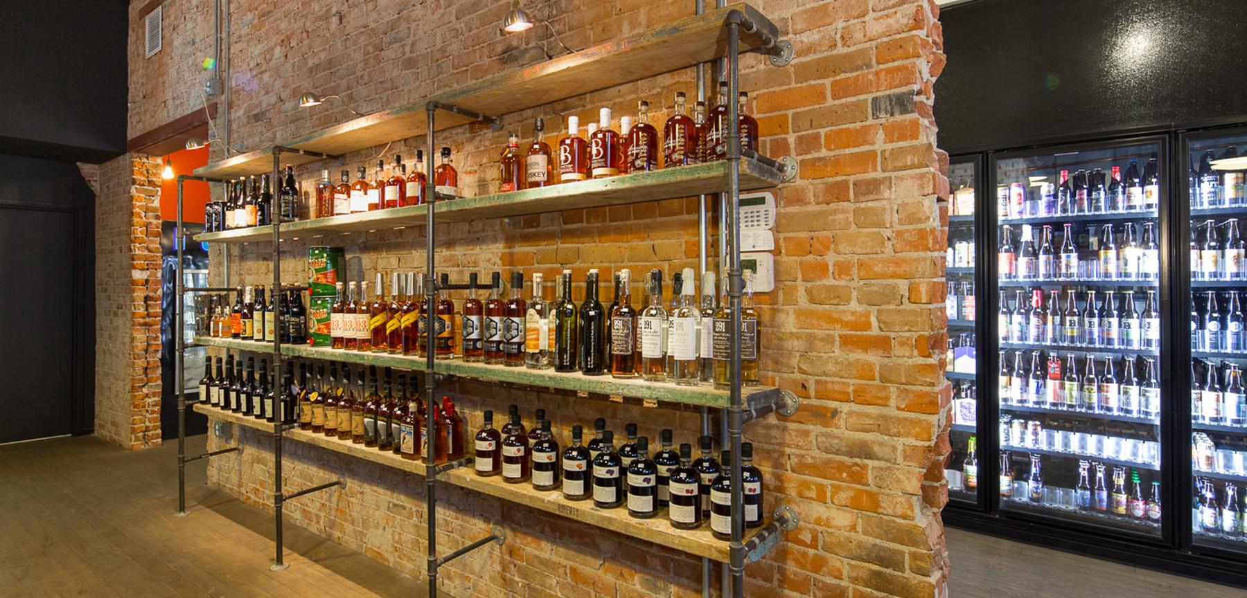 Hugo's Colorado Beer and Spirits shelves