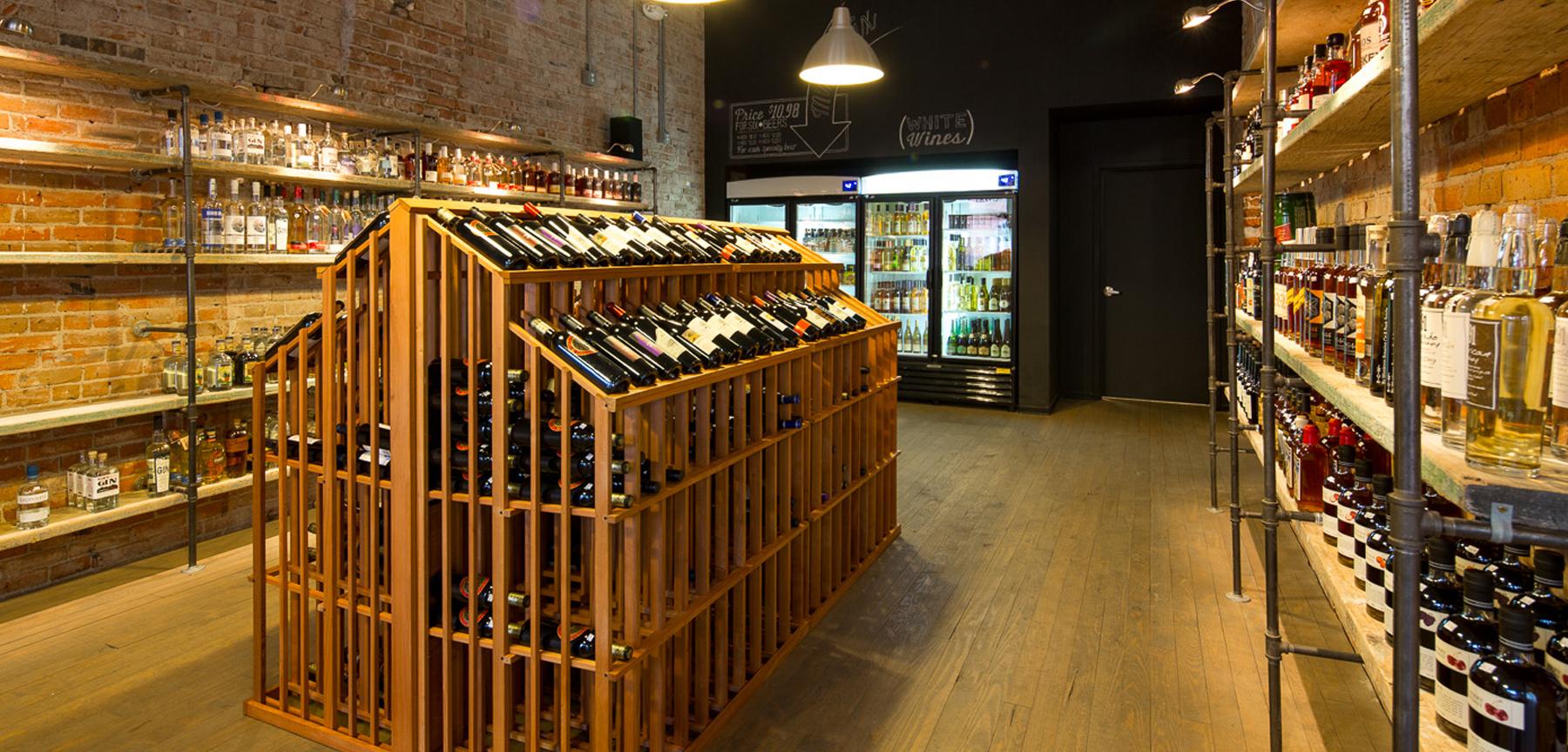 Hugo's Colorado Beer and Spirits wine area