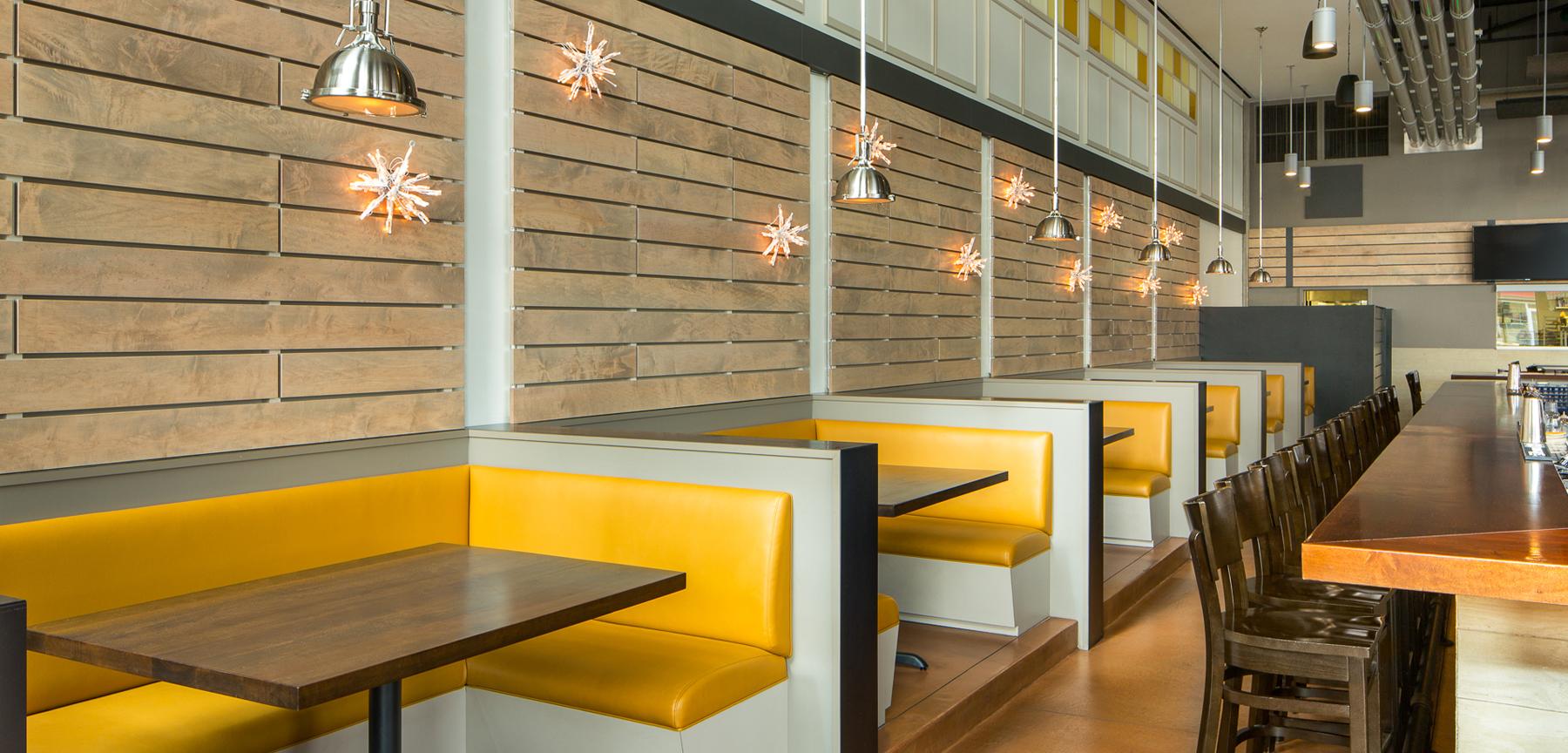 Sloan's Lake Tap & Burger booths