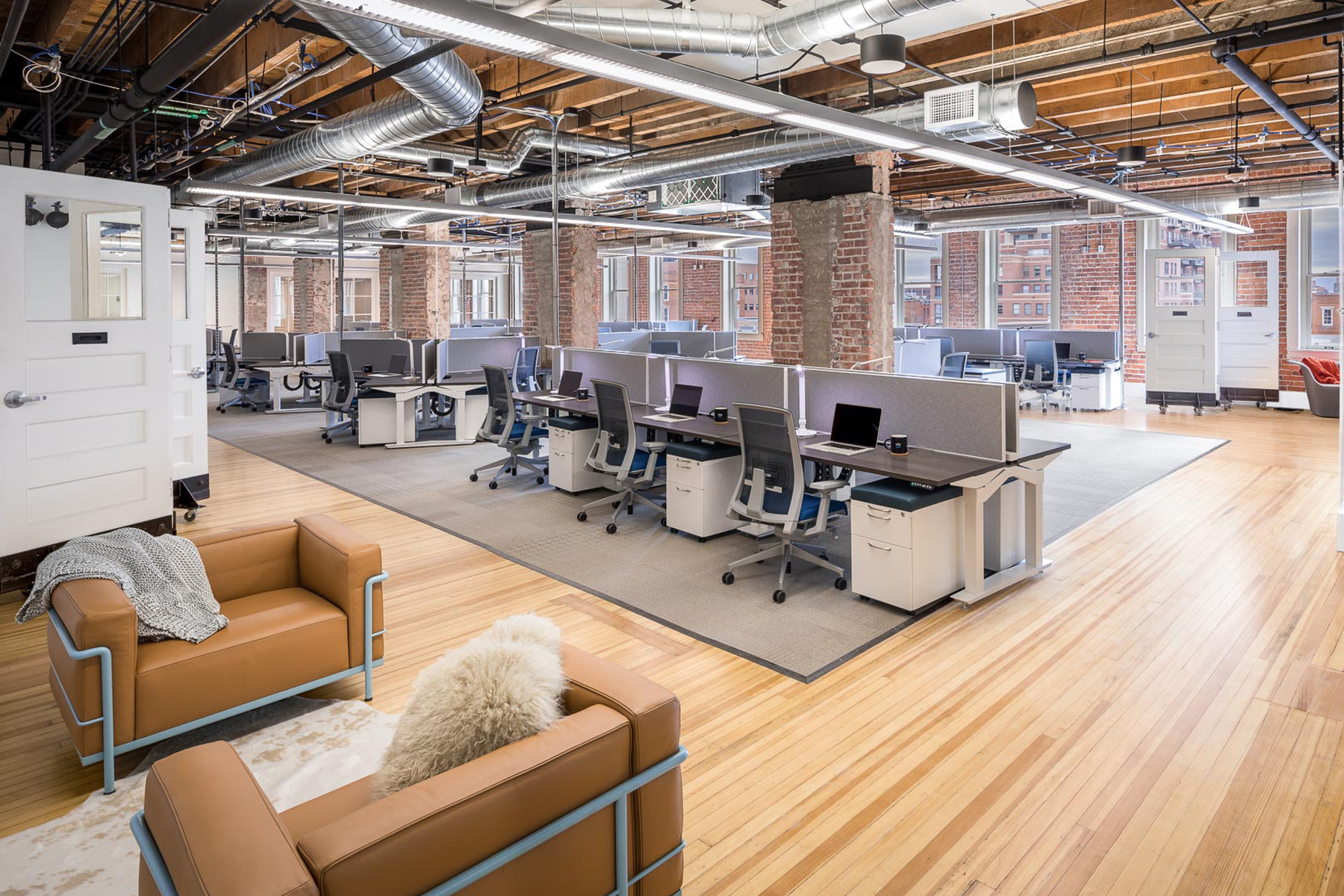 Office Buildout in Historical Building, Denver Construction