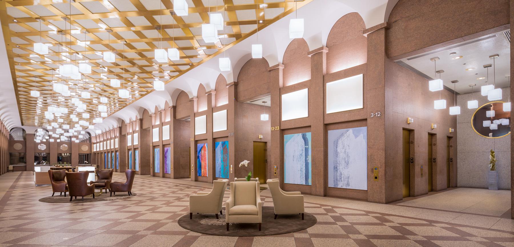 Wells Fargo elevator lobby