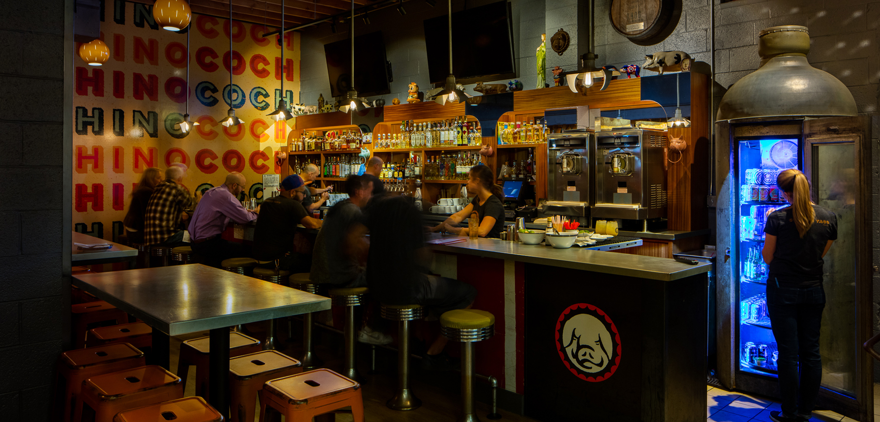 Cochino Taco Restaurant bar area
