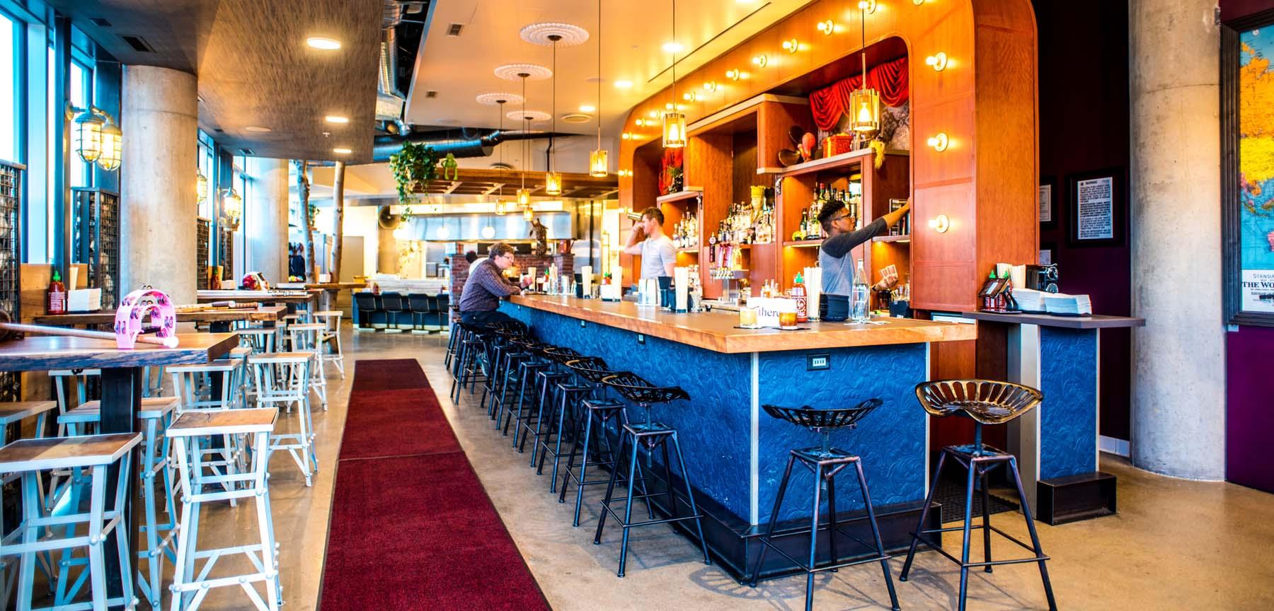 There Bar Restaurant bar area
